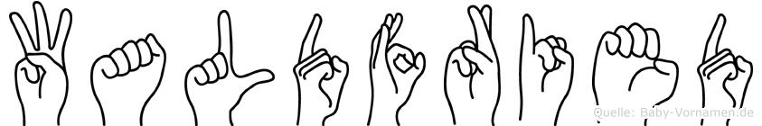 Waldfried im Fingeralphabet der Deutschen Gebärdensprache