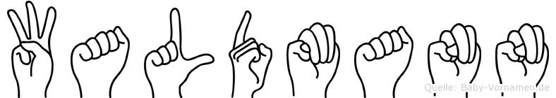 Waldmann im Fingeralphabet der Deutschen Gebärdensprache