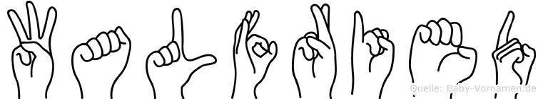 Walfried in Fingersprache für Gehörlose