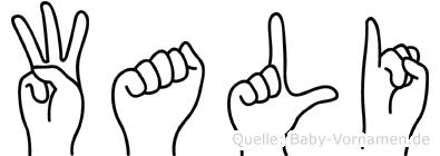 Wali in Fingersprache für Gehörlose