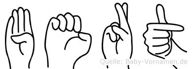 Bert im Fingeralphabet der Deutschen Gebärdensprache