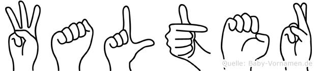 Walter in Fingersprache für Gehörlose