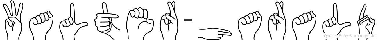 Walter-Harald im Fingeralphabet der Deutschen Gebärdensprache