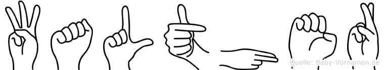 Walther in Fingersprache für Gehörlose