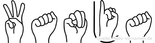 Wanja im Fingeralphabet der Deutschen Gebärdensprache
