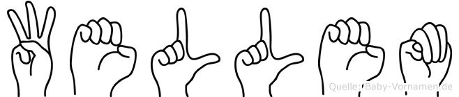 Wellem im Fingeralphabet der Deutschen Gebärdensprache