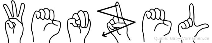 Wenzel in Fingersprache für Gehörlose