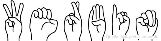 Werbin in Fingersprache für Gehörlose