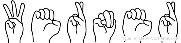 Werner im Fingeralphabet der Deutschen Gebärdensprache