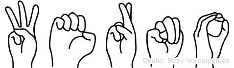 Werno in Fingersprache für Gehörlose