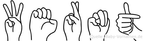 Wernt in Fingersprache für Gehörlose