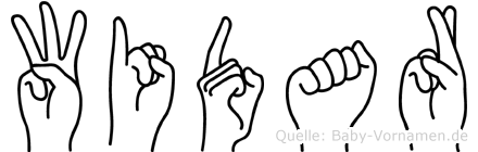 Widar im Fingeralphabet der Deutschen Gebärdensprache