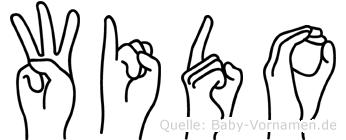 Wido in Fingersprache für Gehörlose