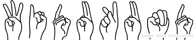 Widukund in Fingersprache für Gehörlose