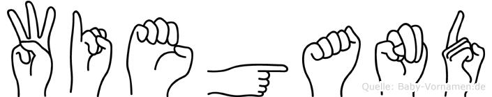 Wiegand im Fingeralphabet der Deutschen Gebärdensprache