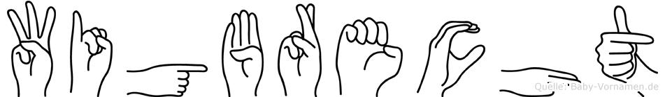 Wigbrecht im Fingeralphabet der Deutschen Gebärdensprache
