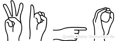 Wigo in Fingersprache für Gehörlose