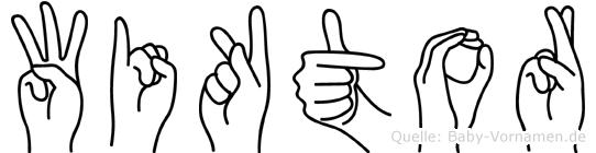 Wiktor im Fingeralphabet der Deutschen Gebärdensprache
