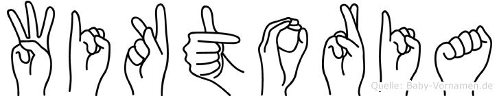 Wiktoria in Fingersprache für Gehörlose