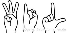 Wil in Fingersprache für Gehörlose