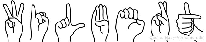 Wilbert in Fingersprache für Gehörlose