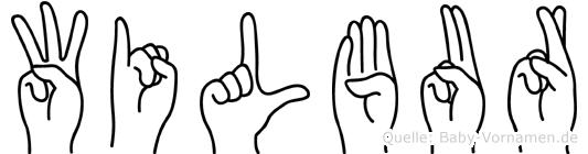 Wilbur in Fingersprache für Gehörlose