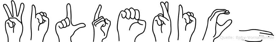 Wilderich im Fingeralphabet der Deutschen Gebärdensprache
