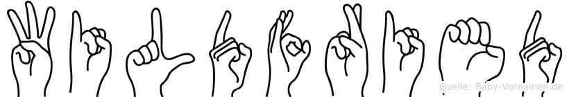Wildfried im Fingeralphabet der Deutschen Gebärdensprache