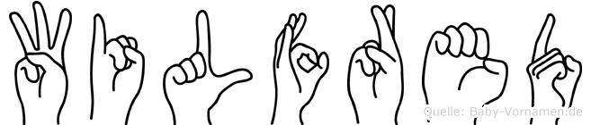 Wilfred im Fingeralphabet der Deutschen Gebärdensprache
