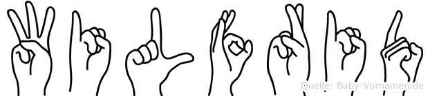 Wilfrid im Fingeralphabet der Deutschen Gebärdensprache