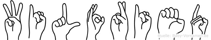 Wilfried im Fingeralphabet der Deutschen Gebärdensprache