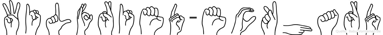 Wilfried-Eckhard im Fingeralphabet der Deutschen Gebärdensprache