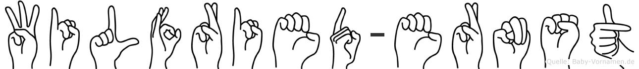 Wilfried-Ernst im Fingeralphabet der Deutschen Gebärdensprache