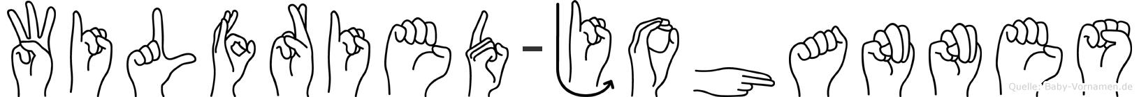Wilfried-Johannes im Fingeralphabet der Deutschen Gebärdensprache