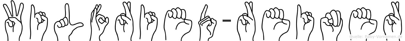 Wilfried-Reiner im Fingeralphabet der Deutschen Gebärdensprache