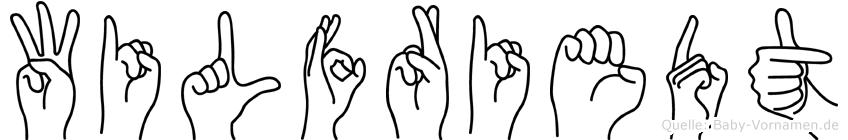 Wilfriedt im Fingeralphabet der Deutschen Gebärdensprache