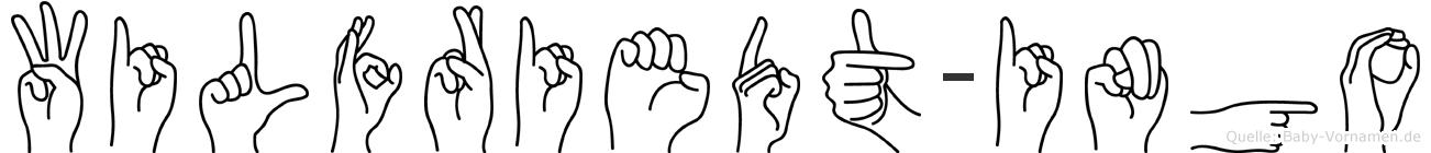 Wilfriedt-Ingo im Fingeralphabet der Deutschen Gebärdensprache