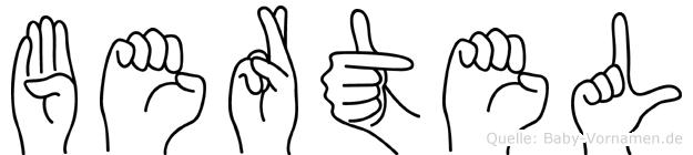 Bertel im Fingeralphabet der Deutschen Gebärdensprache