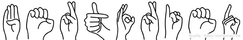Bertfried in Fingersprache für Gehörlose