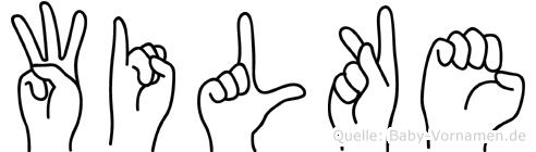 Wilke in Fingersprache für Gehörlose