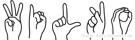 Wilko in Fingersprache für Gehörlose