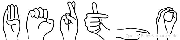 Bertho in Fingersprache für Gehörlose