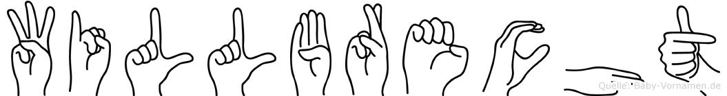 Willbrecht im Fingeralphabet der Deutschen Gebärdensprache