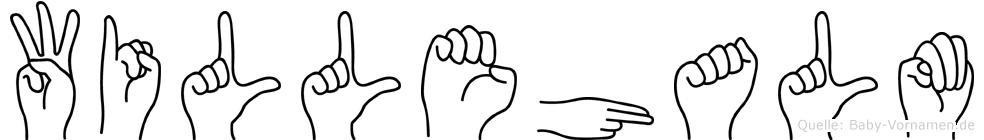Willehalm im Fingeralphabet der Deutschen Gebärdensprache