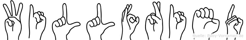 Willfried in Fingersprache für Gehörlose