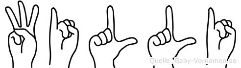 Willi in Fingersprache für Gehörlose