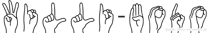 Willi-Bodo im Fingeralphabet der Deutschen Gebärdensprache
