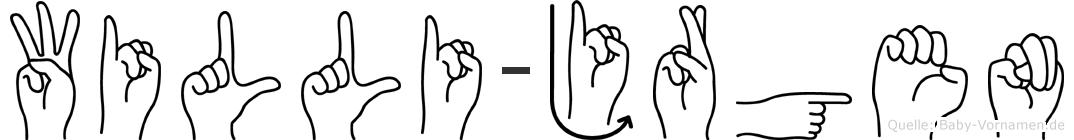 Willi-Jürgen im Fingeralphabet der Deutschen Gebärdensprache