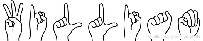William im Fingeralphabet der Deutschen Gebärdensprache