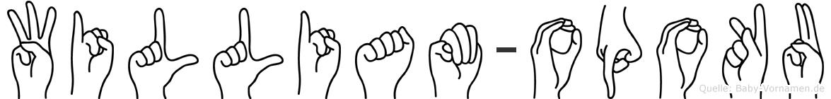 William-Opoku im Fingeralphabet der Deutschen Gebärdensprache